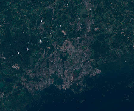 Satellite map of Helsinki Finland, view from space. contains modified Copernicus Sentinel data