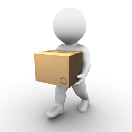send parcel: Bobby has found a new home and is now moving. Stock Photo