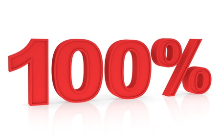 stating: Percent Numbers stating a Discount in red color - 100%