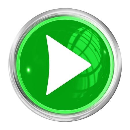 Ein Web Button rechts auf weißem Hintergrund Lizenzfreie Bilder