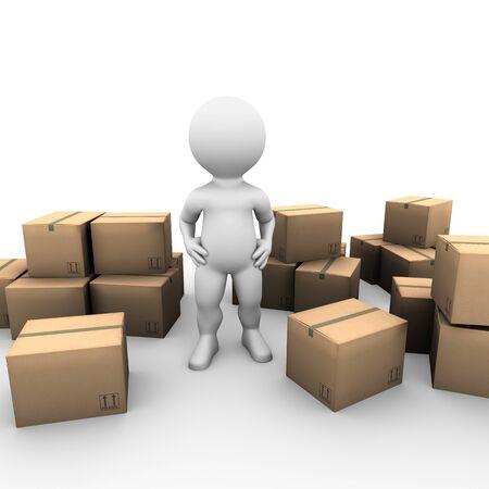 uitpakken: Bobby net verhuisd naar zijn nieuwe huis en moet nog steeds zijn dingen uitpakken
