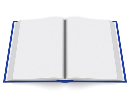 an open Book, evenly shaded and rendered