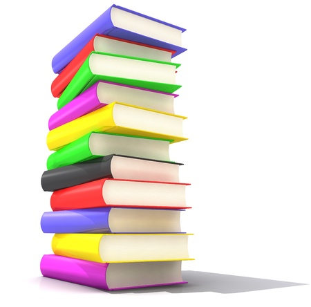 A pile of Books with several colors photo