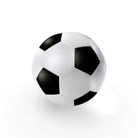 a traditional soccer ball on clean background photo
