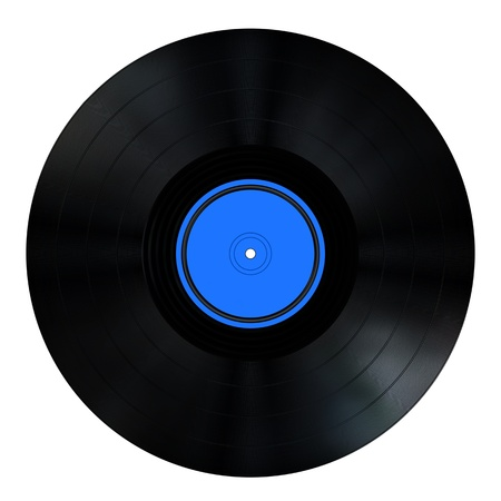 record albums: An old style vinyl Record - black with label Stock Photo