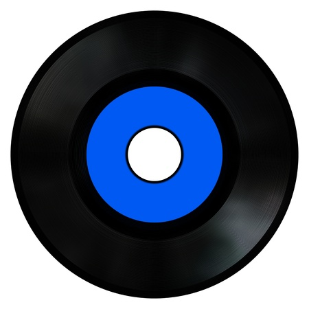 An old style vinyl Record. photo