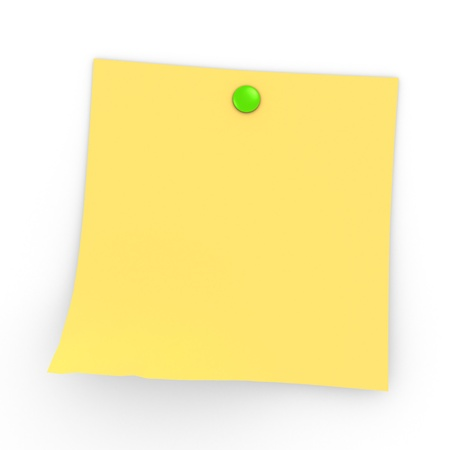 A Post It with Button - ready to put a message on it