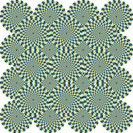 Das ist eine faszinierende optische Täuschung - die konzentrischen Kreise bewegen sich irgendwie Lizenzfreie Bilder