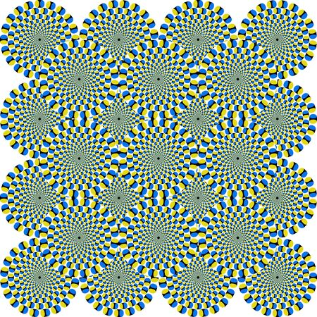 That is a fascinating optical illusion - the concentrical circles are moving somehow
