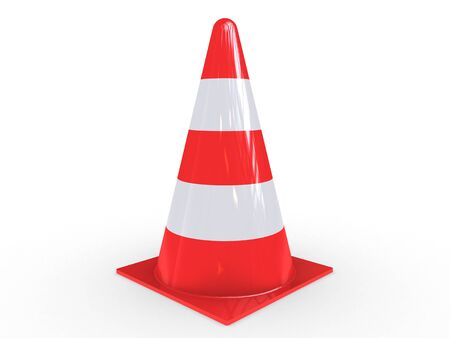 traffic pylon: A Traffic Pylon for regulation on white background
