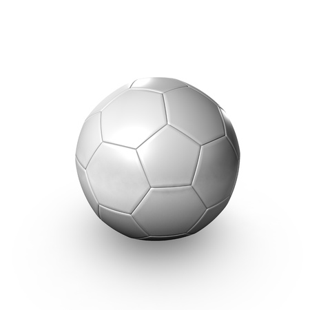 A Soccer  Foot-Ball lying on a clean background photo