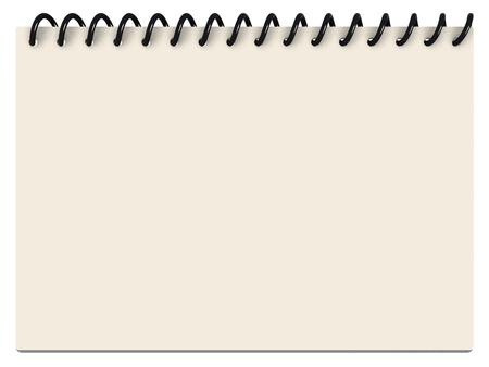 personally: A Notepad with spiraled white and yellowish paper