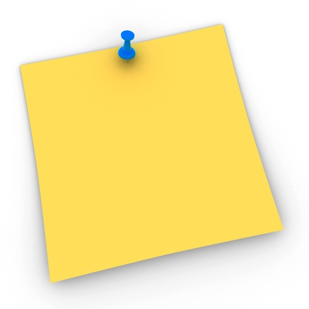 postit note: A Post It with Pin - ready to get a Message on it