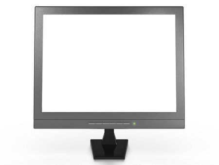 futuristically: A PC Monitor with empty space for your messages