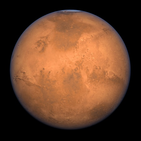 Planet Mars - A high res Full Shot rendering Stock Photo - 9403033