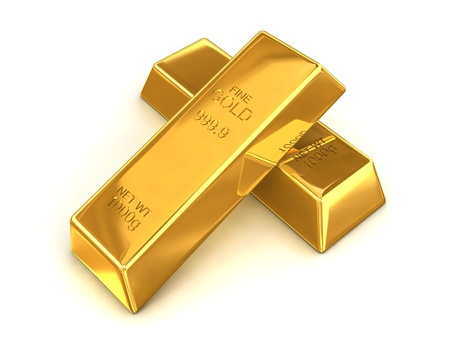 goldbar: A pair of fine gold bars with a net weight of 1000g each.