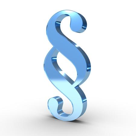 ein Absatz  Rechts-Symbol auf weißem Hintergrund Lizenzfreie Bilder