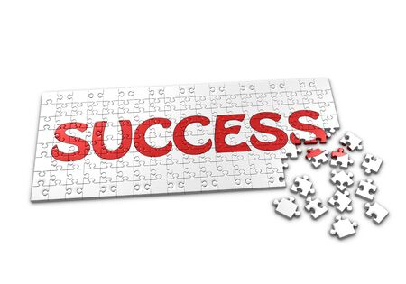 seperated: A Puzzle projecting the word success with seperated pieces