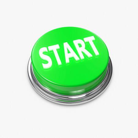 bijschrift: Een groene Alert Button met de titel Start.