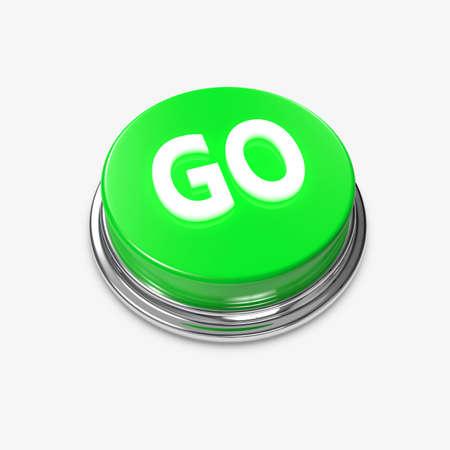 bijschrift: Een groene knop met de titel te gaan op het.