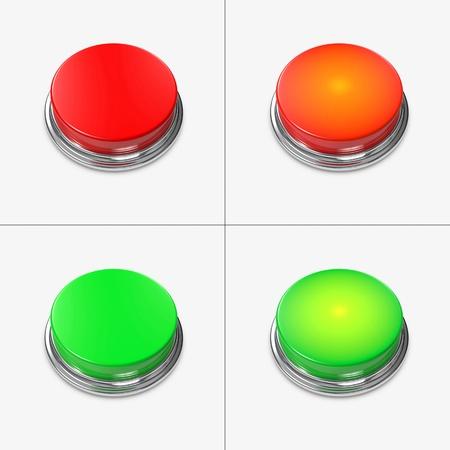Rot und Grün Alarm Tasten ohne Beschriftung.