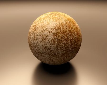 Eine gerenderte Darstellung des Planeten Merkur. Lizenzfreie Bilder