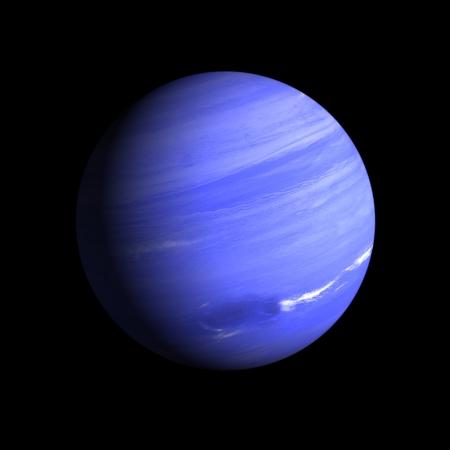 neptuno: Una representación del planeta Neptuno gas sobre un fondo negro limpio.