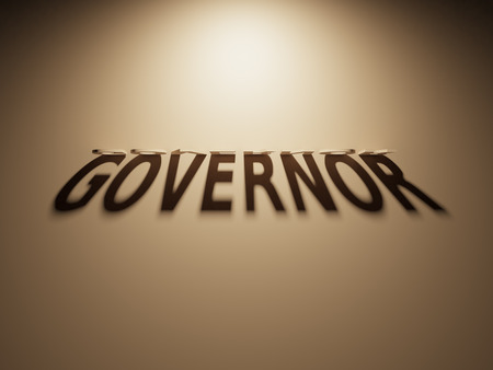 us congress: A 3D Rendering of the Shadow of an upside down text that reads Governor.