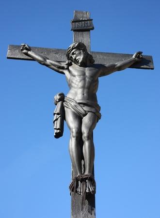 Statue of Jesus on the cross photo