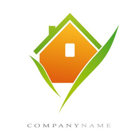 maison: Logotype pour la maison �cologique, nouvelles �nergies