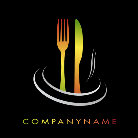 Illustration logotype for restaurant, cuisine, fast-food