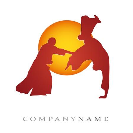 aikido: Illustration of martial arts for sport company Illustration