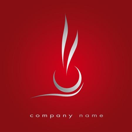 logos restaurantes: Ilustraci�n de un restaurante de comida r�pida, cocina