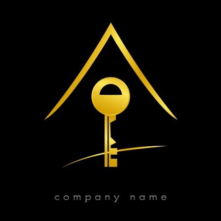 Logo für Immobilien, Agentur Standard-Bild - 9092759