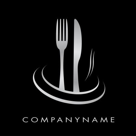 logo de comida: Ilustraci�n de restaurante, la cocina, la empresa Vectores