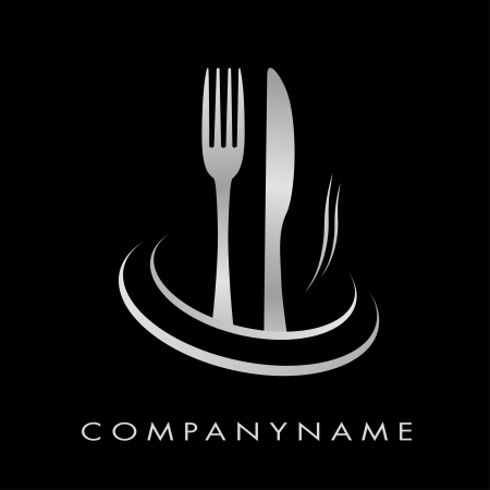 gourmet: Logo for restaurant, cuisine, company Illustration