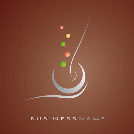Logo for restaurant, cuisine, company Vector
