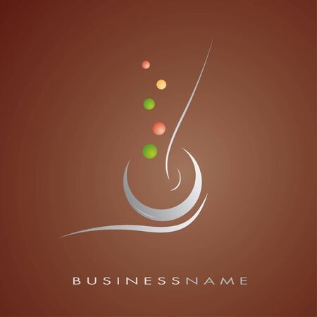Logo for restaurant, cuisine, company Illustration