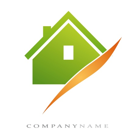 Logo voor huisvesting, met nieuwe energieën