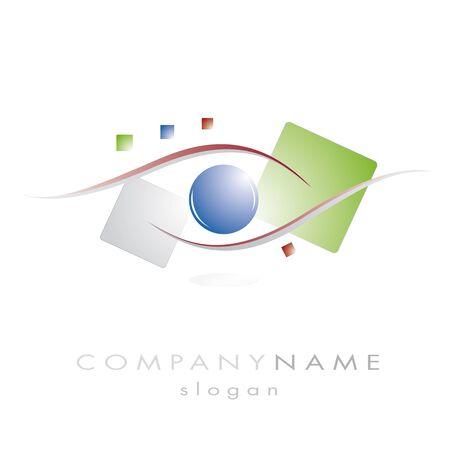 vision futuro: logotipo de la empresa con la ilustraci�n de la visi�n Vectores