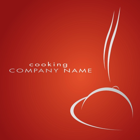 Logotype restaurant in red, hotel, gastronomy
