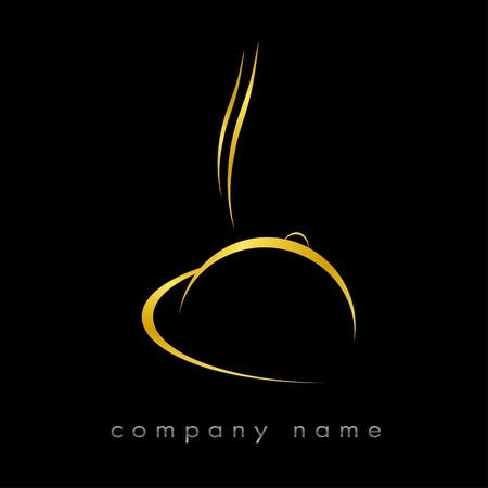 Logotyp Restaurant rot, Hotel, Gastronomie Standard-Bild - 9092755