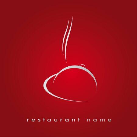 Logo restaurant in het rood, hotel, gastronomie