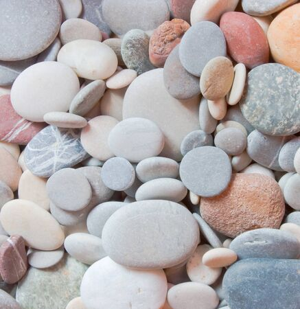 red pebble: Background of corlored pebbles Stock Photo