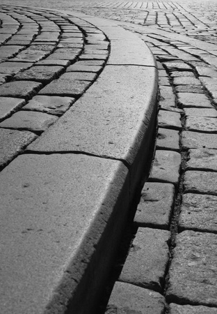 Road way of Cobblestone