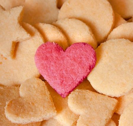 galletas: Almendras Cookies con coraz�n por amor, los amantes