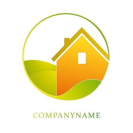 szigetelés: Illusztráció ház üzleti, építőipari, ecologicy