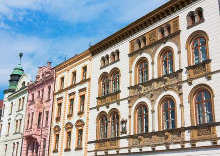 olomouc: Facade of typical buildings from Czech Republic, Olomouc