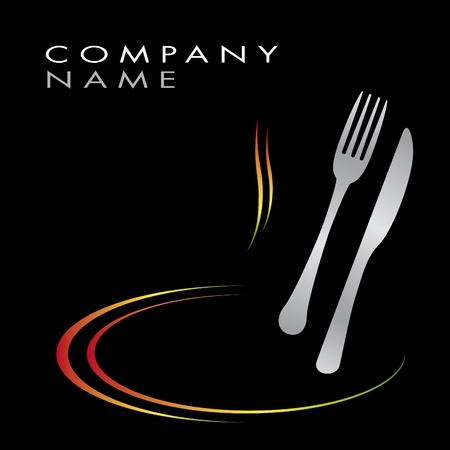 dinner: Logo for cooking business Illustration