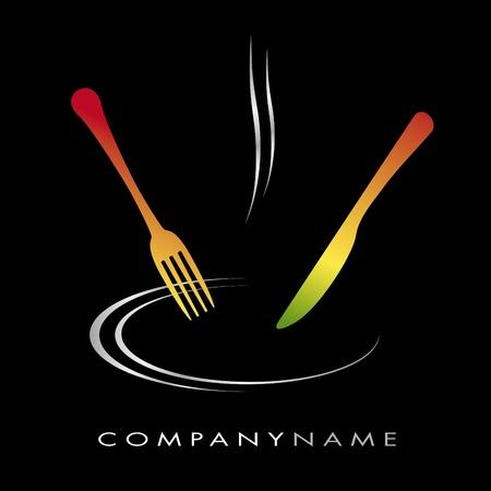 meal: Logo for cooking business Illustration